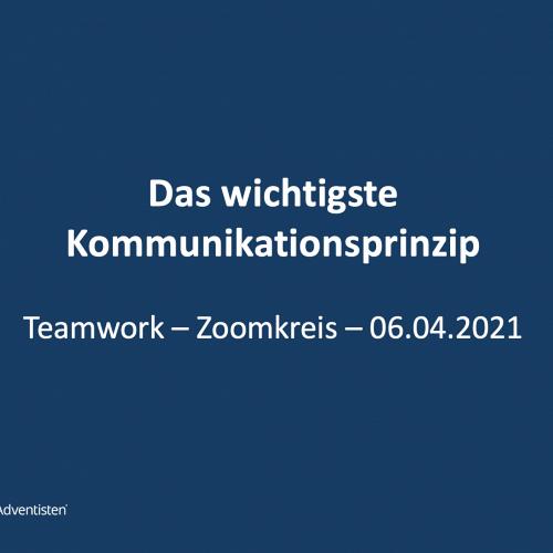 Bild zum Weblog Teamwork - Zoomkreis: Kommunikationsprinzip